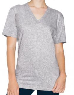 Unisex Fine Jersey V-Neck Damen T-Shirt