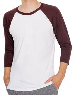 Herren Poly-Cotton ¾ Sleeve Raglan T-Shirt