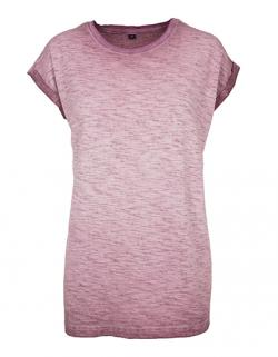 Damen Spray Dye Extended Shoulder Tee