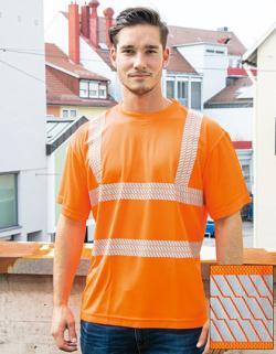 Herren Hi-Viz Broken Reflective Arbeits T-Shirt EN ISO 20471
