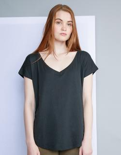 Damen Loose Fit V Neck T / Öko-Tex® Standard 100