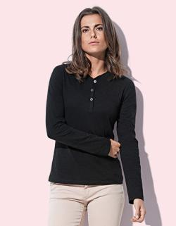 Damen Sharon Henley Long Sleeve for women