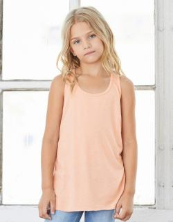 Damen Youth Flowy Racerback Tank