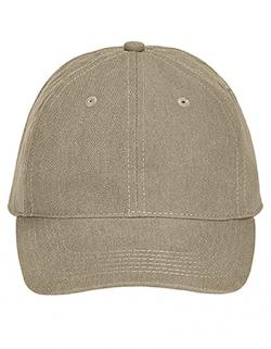 6-Panel-Design Pigment Dyed Canvas Baseball Cap