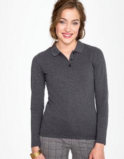 Damen Long-Sleeve Piqué Polo Shirt Perfect