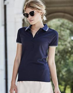 Damen Luxury Stripe Stretch Polo