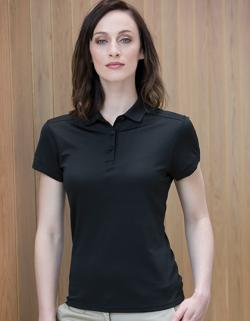 Damen Stretch Polo Shirt + Wick Finish