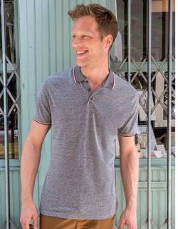 Herren Heather Polo Shirt Paname