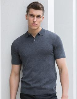 Herren Knitted Short Sleeved Polo