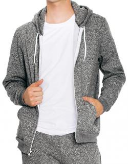 Herren Mock Twist Zip Hooded Sweatshirt