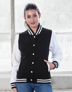 Damen Varsity College Jacket / Druckknopfverschluss