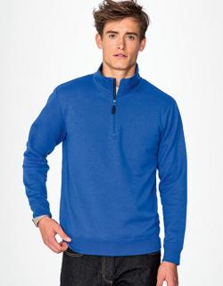 Herren  Zip High Collar Sweatshirt Stan