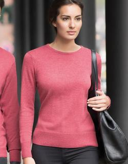 Damen Crew Neck Knitted Pullover