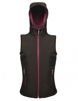 Damen Arley Hooded Softshell Bodywarmer