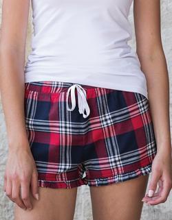 Damen Tartan Frill Shorts