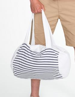Striped Jersey Duffel Bag Sunset / 45 x 25 cm