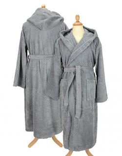 Herren Bademantel mit Kapuze Bathrobe with Hood