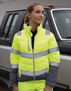 Damen Soft Padded Safety Jacket  ISO EN20471:2013 Klasse 2