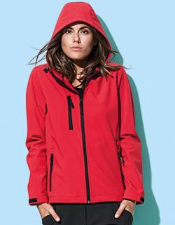 Damen Active Softest Shell Hooded Jacke