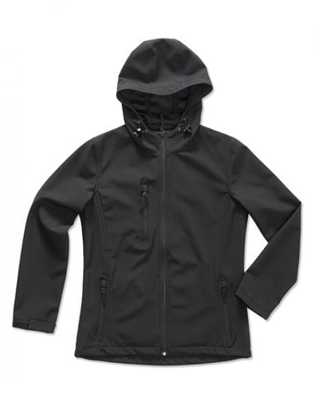 Damen Active Softest Shell Hooded Jacke