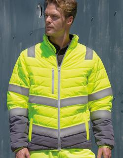 Herren Soft Padded Safety Jacke / ISO EN20471:2013 Klasse 2