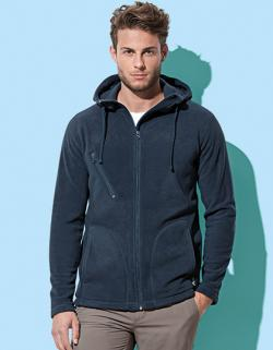 Herren Active Hooded Fleece Jacke