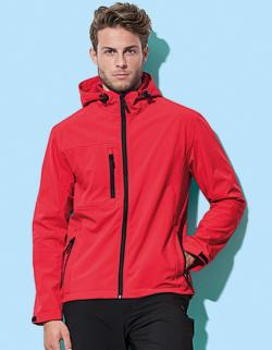 Herren Active Softest Shell Hooded Jacke