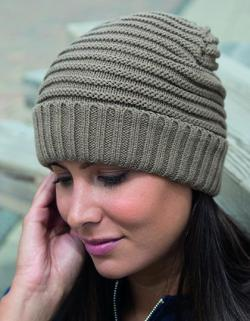 Damen Braided Hat / Innen: 100% Polyester Fleece