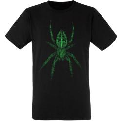 """Spider / Spinnen"" T-Shirt in grün"