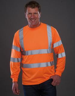 Hi Vis Long Sleeve T-Shirt - EN ISO 20471:2013 Class 3