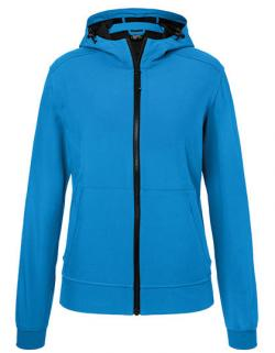 Damen Hooded Softshell Jacket, Leicht tailliert
