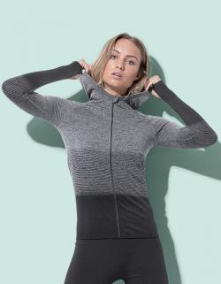 DamenActive Seamless Jacket, Mehrteilige Taucher-Kapuze