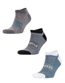 Herren 3-Pack Mixed Stripe Coolmax Sneaker Socks
