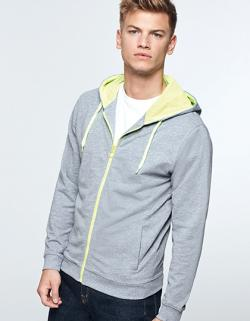 Herren Fuji Sweat-Jacket, Slub Garn