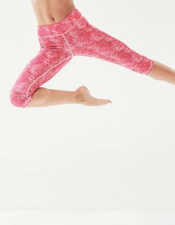 Damen Pincha 3/4 Printed Legging, Polyester-Elastan