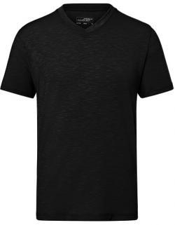 Herren Slub T-Shirt, Elastischer Single Jersey