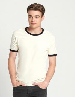 Herren Ringer T-Shirt, Feine Jerseyware