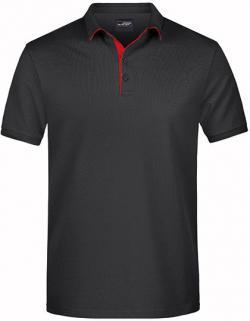 Herren Polo Single Stripe, Hochwertige Piqué-Qualität