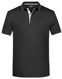 Herren Polo Stripe, Hochwertige Piqué-Qualität