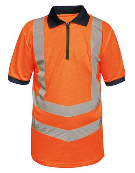 Herren Hi-Vis Pro Poloshirt, EN20471 Klasse 2