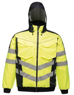 Herren Hi-Vis Pro Bomber Jacket, Wasserdicht