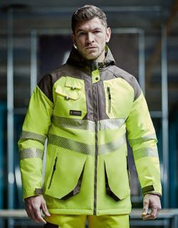 Herren Hi-Vis Parka Jacket, EN343 Klasse 3:2
