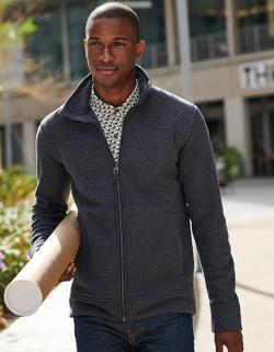 Herren Parkline Full Zip Mini Stripe Fleece