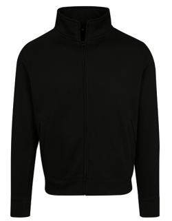 Herren High Neck Sweat Zip Cardigan, Baumwoll-Mix