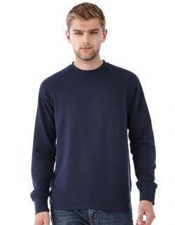 Herren Kruger Crew Sweater, Flachstrick-Kragen