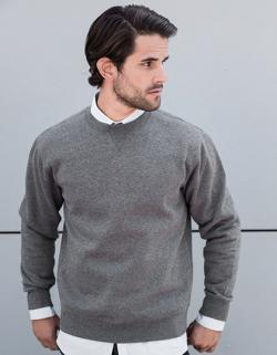 Herren Authentic Melange Sweat, Außenmaterial: 100% Baumwoll