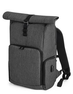 Laptop-Rucksack Q-Tech Charge Roll-Top, 31 x 45 x 17 cm