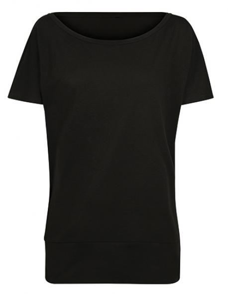 Damen Shirt Ladies Batwing Tee Großer U-Boot-AusschnittBuild Your Brand