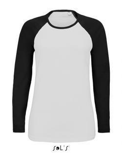 Damen Shirt Milky Long Sleeve T-Shirt - 2-farbig