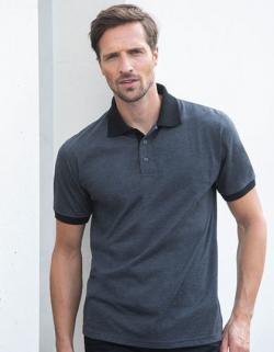 Herren Polo Contrast Tri Blend Polo Shirt